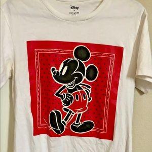 Disney x Coach Limited Rare T-Shirt Luxury